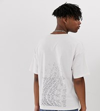 Heart And Dagger Relaxed Fit T Shirt In Pink With Back Print