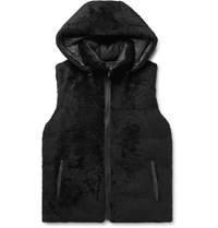 Yves Salomon Reversible Shearling And Quilted Shell Hooded Down Gilet Black