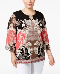 Jm Collection Plus Size Keyhole Embellished Butterfly Sleeve Top Only At Macy's St Maarten Spring