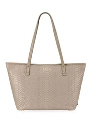Gigi New York Personalized Embossed Mini Taylor Tote Mulberry