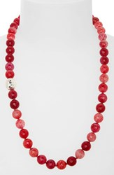 Women's Simon Sebbag Beaded Necklace Red Fire Agate