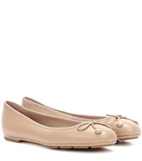 Tory Burch Laila Driver Leather Ballerinas Neutrals