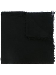 Rick Owens Raw Edge Scarf Black
