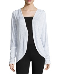 Electric Yoga Open Front Cocoon Cardigan White