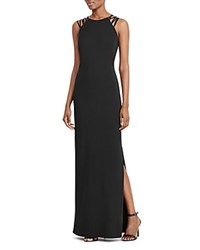 Ralph Lauren Petites Strappy Shoulder Gown 100 Bloomingdale's Exclusive Black
