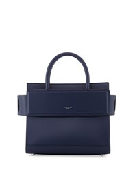 Givenchy Horizon Mini Leather Satchel Bag Navy