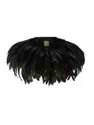 Biba Feather Cape Black