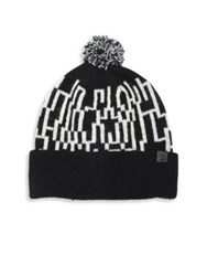 Bickley Mitchell Lambswool Blend Knit Pom Beanie Black