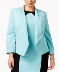 Nine West Plus Size Draped Blazer Spa