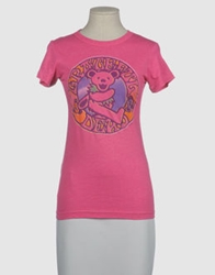 Junk Food Short Sleeve T Shirts Fuchsia