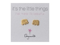 Dogeared Little Things Elephant Gold Earring