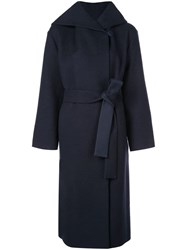 The Row Riona Hooded Coat Blue