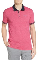 Ted Baker Men's London Sandway Mouline Golf Polo Pink