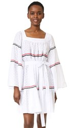 Lisa Marie Fernandez Short Peasant Dress White Eyelet