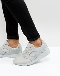 Asos Trainers In Grey Faux Suede With Rubber Panels Grey