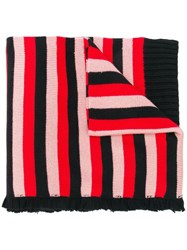 Sonia Rykiel Long Striped Scarf Red