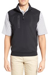 Men's Bobby Jones 'Crawford Xh20' Stretch Quarter Zip Golf Vest Black