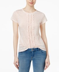 Maison Jules Cotton Ruffled T Shirt Only At Macy's Soft Petal