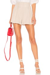 Bcbgmaxazria Striped Pleated Short Beige