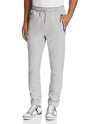 Hugo Boss Green Heacho Zip Pocket Jogger Sweatpants Light Pastel Gray