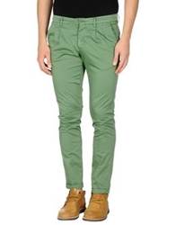 Manuel Ritz White Casual Pants Green