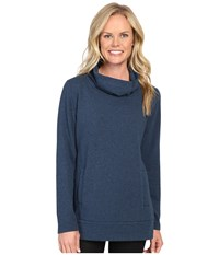 Lucy Journey Within Pullover Poseidon Heather Women's Long Sleeve Pullover Blue