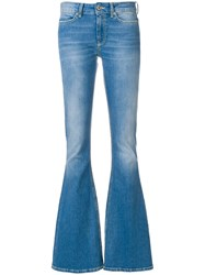 Dondup Washed Flared Jeans Blue