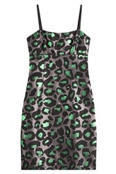 Marc By Marc Jacobs Animal Print Jacquard Dress Multicolor