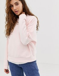 Weekday Huge Cropped Sweatshirt In Pink