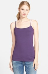 Petite Women's Halogen 'Absolute' Camisole Purple Indigo