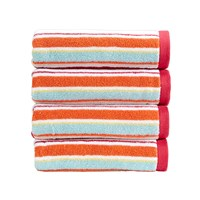 Christy Portobello Stripe Towel Deep Pink Bath Towel