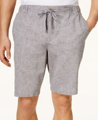 Tasso Elba Men's Linen Drawstring Shorts Only At Macy's Grey