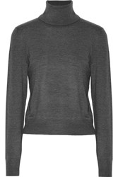 Equipment Atticus Silk Blend Turtleneck Sweater Gray