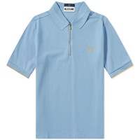Fred Perry X Miles Kane Zip Polo Blue