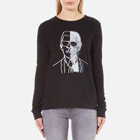 Karl Lagerfeld Women's Photo Sweatshirt Black