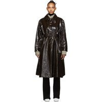 Christophe Lemaire Brown Long Shirt Coat