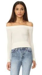 Getting Back To Square One Off Shoulder Long Sleeve Tee Vanilla Ice