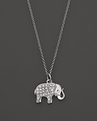 Kc Designs Diamond Elephant Pendant In 14K White Gold 16
