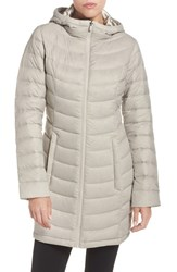 The North Face Women's 'Jenae' Hooded Down Jacket Dove Grey