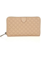Marc Jacobs Hudson Quilted Leather Wallet Brown