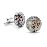 Lc Collection Best Seller Vintage Watch Movement Cufflinks Silver