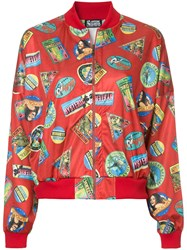 Hysteric Glamour Printed Bomber Jacket Polyester Red