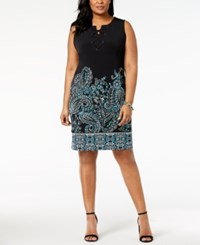 Jm Collection Plus Size Lace Up Dress Created For Macy's Paisley