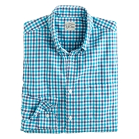 J.Crew Slim Secret Wash Shirt In City Check Pagoda Blue
