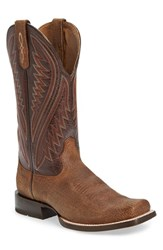 Ariat Men's 'Hoolihan' Cowboy Boot Tan Oiled Gaucho Leather