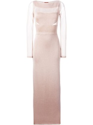 Missoni Shimmering Panel Gown Nude And Neutrals