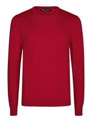 Aquascutum London Men's Rolfe Crew Neck Red