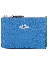 Coach Zipped Wallet Women Calf Leather One Size Blue