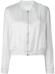 Filles A Papa 'Dallas' Sequin Bomber Jacket White