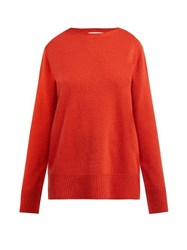 The Row Sibel Wool And Cashmere Blend Sweater Red
